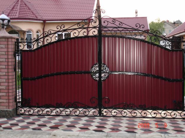 Как сделать кованые ворота из профлиста