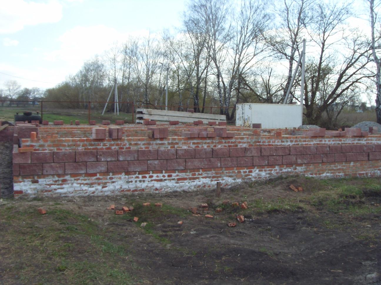 Начальный этап строительства дома